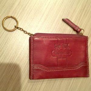 Coach Mini ID keychain wristlet